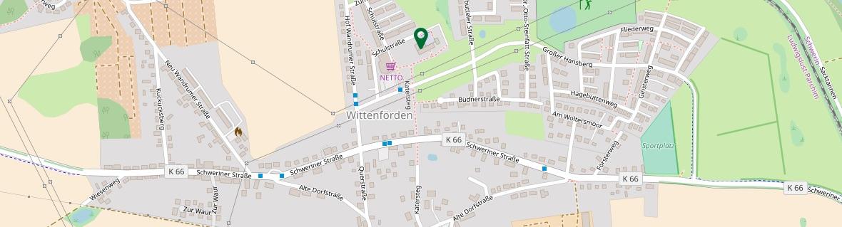 Foto von OpenStreetMap mit dem Standpunkt der Schule!